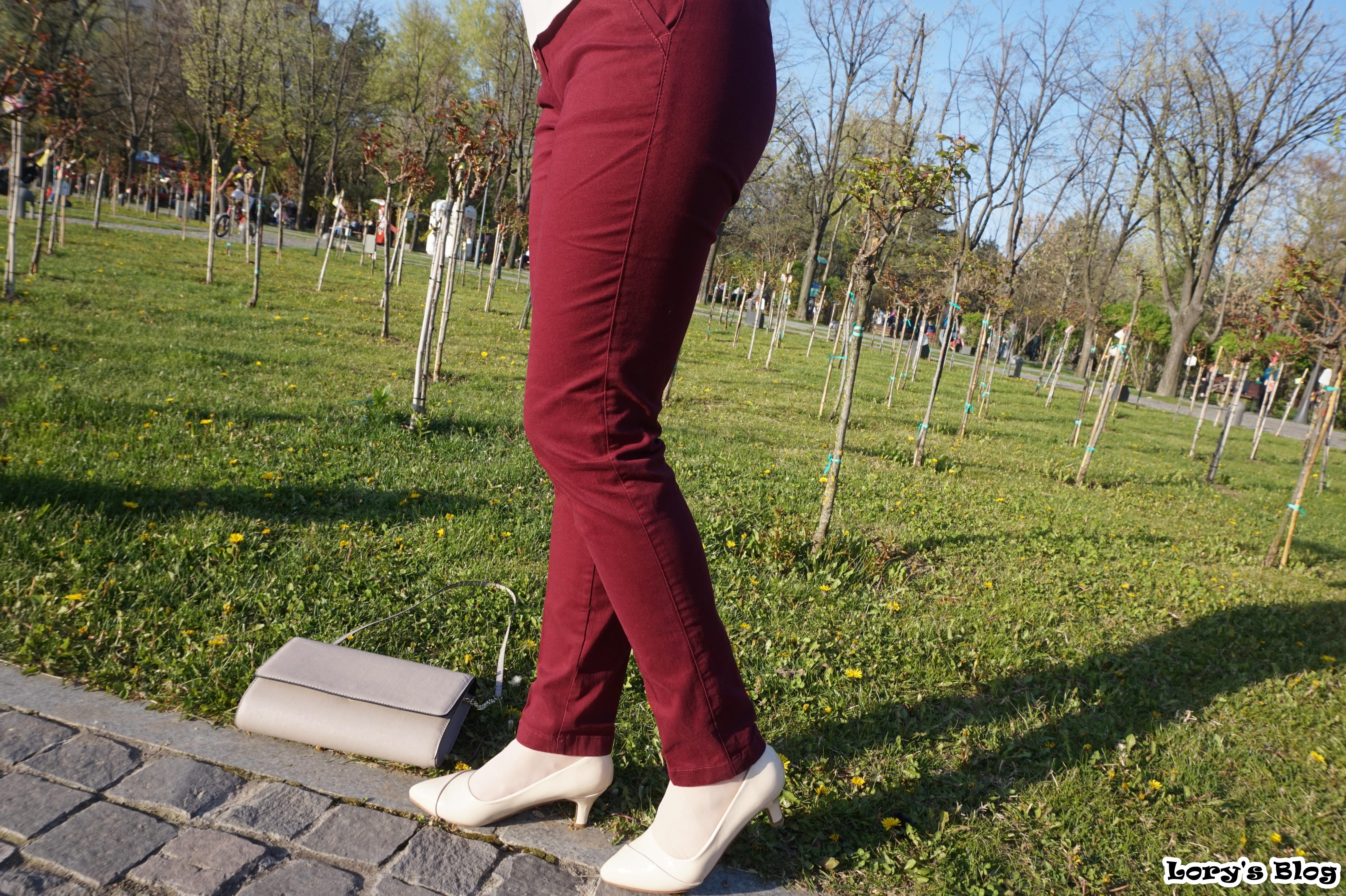 pantaloni-burgundy-koton