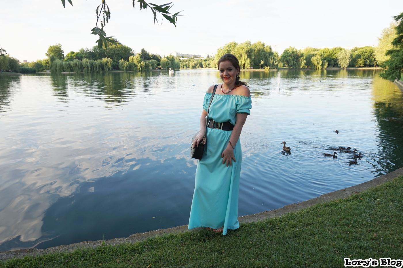 rochie-lunga-turcoaz-zaful-curea-neagra-fata