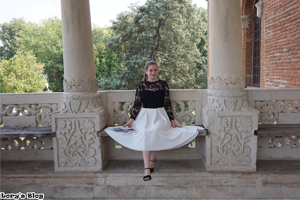 rochie-eleganta-shein-dantela-neopren-alb-negru