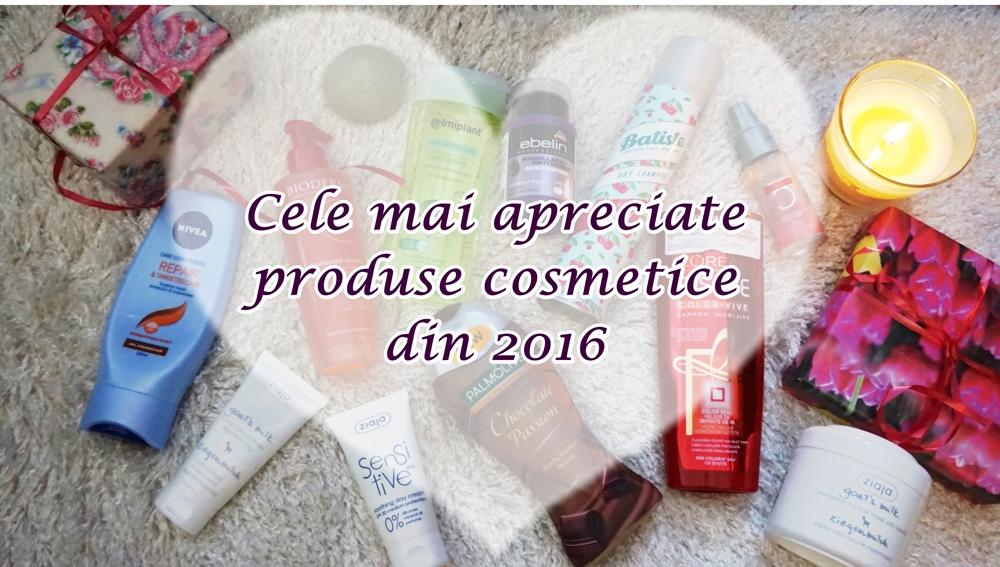 Cele mai apreciate produse cosmetice din 2016