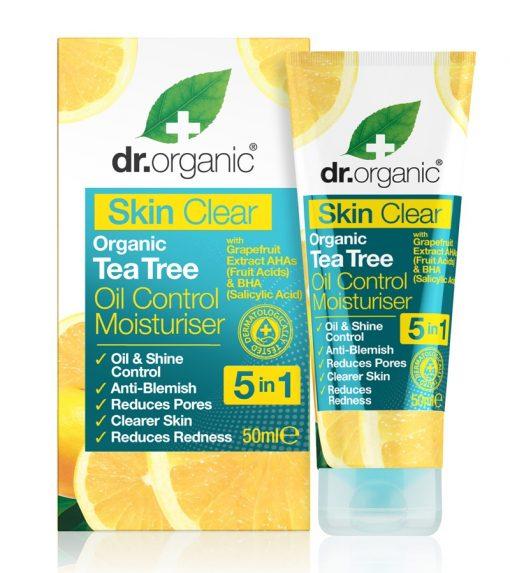 Cremă hidratantă și pentru controlul aspectului uleios Organic Tea Tree