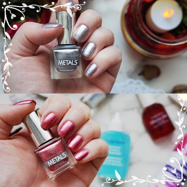 Metallic nails: #GoldenRoseMetals